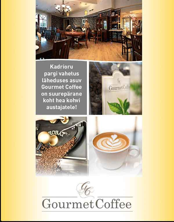 Kohviku Gourmet Coffee flaier