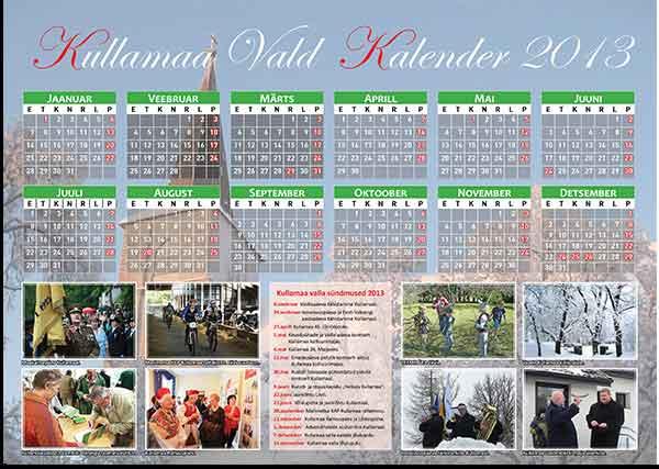 Kullamaa valla kalender 2013