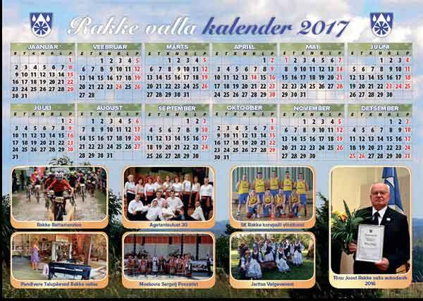 Rakke valla kalender 2017